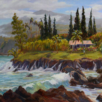 Edge of Paradise - Keanae by Artist Jan Bushart