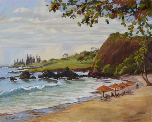 Hamoa Beach Umbrellas by Artist Jan Bushart