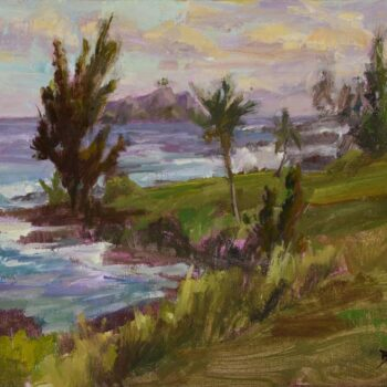 Sea Ranch Cottages at Sunset by Artist Jan Bushart