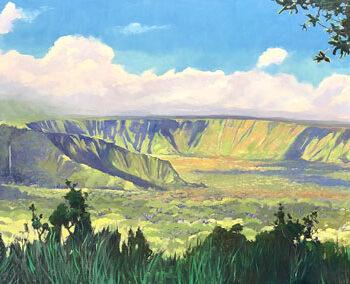 Morning Light Wailua Valley by Artist Michael Clements