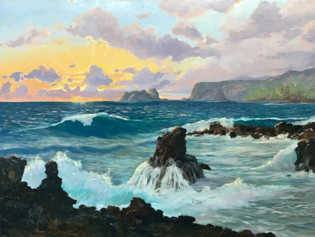 Sunrise at Keanae by Artist Michael Clements