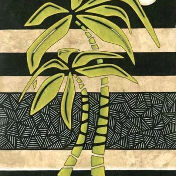 Wasabi Palms by Artist Carla Crow