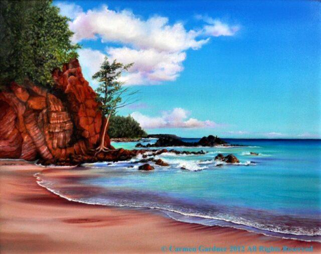 Kaihalulu Bay by Artist Carmen Gardner