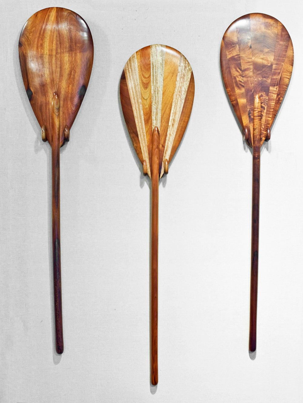 Traditional Hawaiian Racing Paddles by Bob Getzen