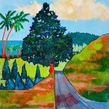 Hana Tree On A Hill by Artist Ed Lane