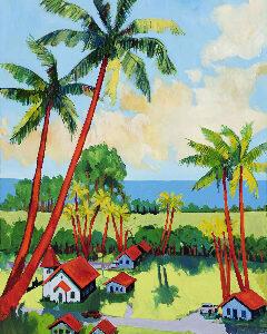 Little Maui Village by Artist Ed Lane