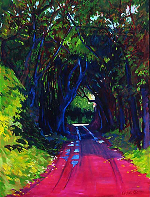 The Green Tunnel by Artist Ed Lane