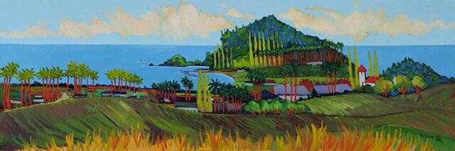 A Happy Day In Hana by Artist Ed Lane