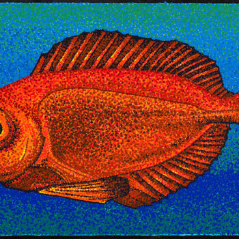 Aweoweo - Big Eye Fish by Artist Craig Allen Lawver