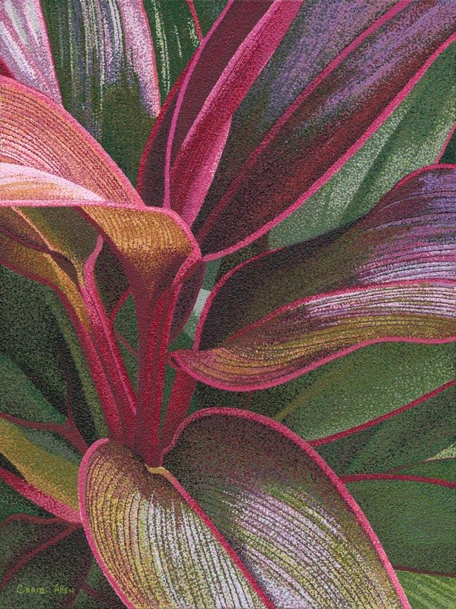 Ti Plant by Artist Craig Allen Lawver