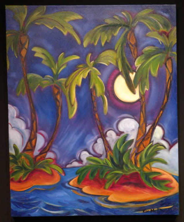 Midnight Through the Palms by Artist Kim McDonald