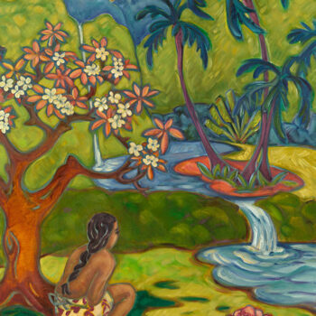 Plumeria Pools by Artist Kim McDonald