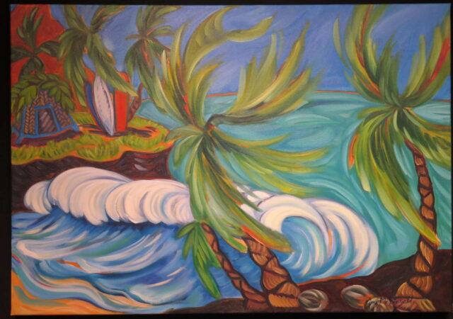 Wind Break by Artist Kim McDonald