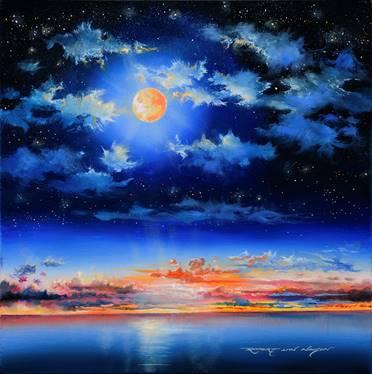March Moon by Artist Robert Lyn Nelson