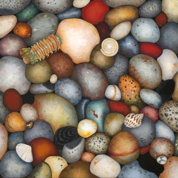 Rainbow Rocks Limited Edition Giclee by Artist Jan Welda Tong