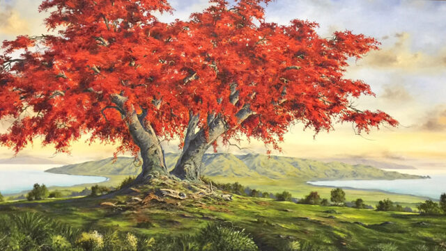Above Maui Coast by Artist George Aldrete