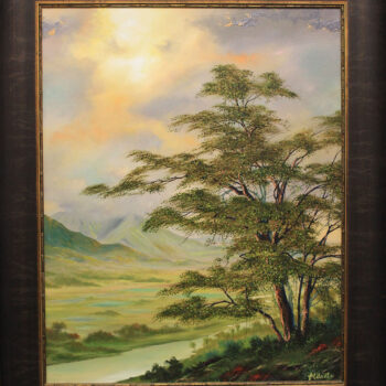 Enchanted Hanalei Valley by Artist George Aldrete