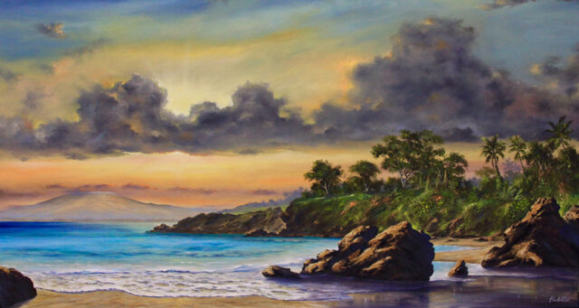 Illuminist Sunset by Artist George Aldrete