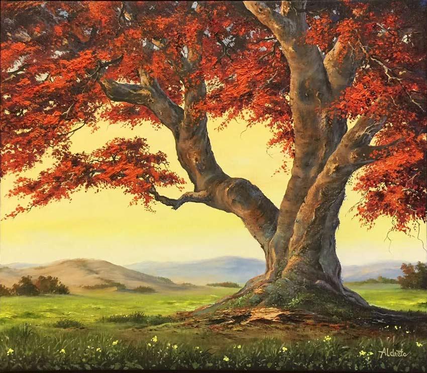 Island Crimson by Artist George Aldrete