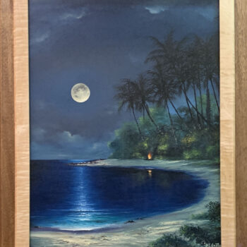 Moon Reflections by Artist George Aldrete
