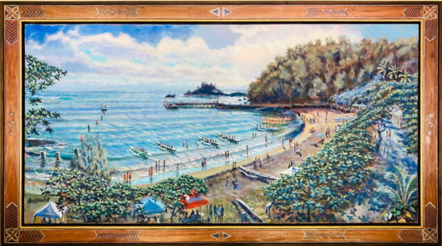 Canoe Regatta by Artist Paul Arsenault