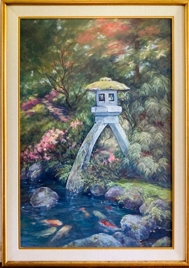 Oriental Garden II by Artist Joyce Clark