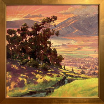 Valley View From Kepa Road by Artist Michael Clements