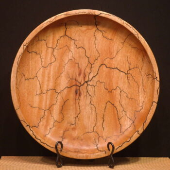 Mango Fractal Platter by Artist Kelly Dunn