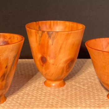 Translucent Norfolk Pine Bowls by Artist Kelly Dunn