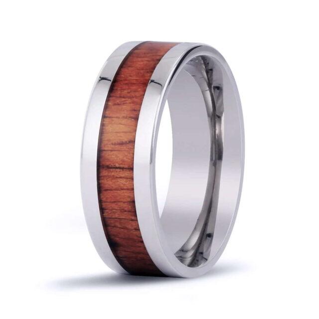 Koa Jewelry Ring Titanium Classic