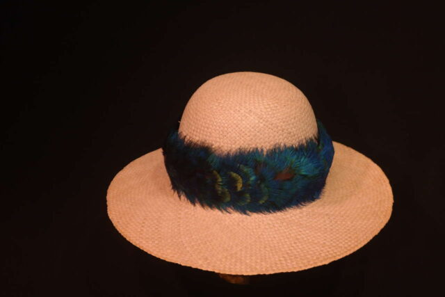 Peacock Feather Hat Band by Maui Feather Artists