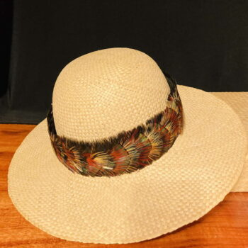 Multi Browns Feather Hatband by Maui Feather Artists
