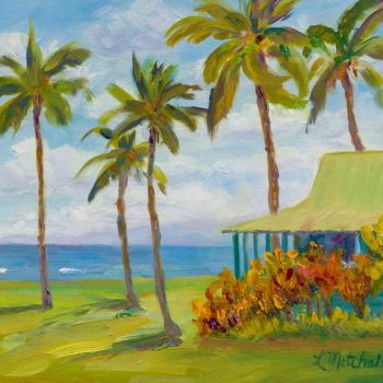 Seaside Bungalow by Artist Linda Mitchell