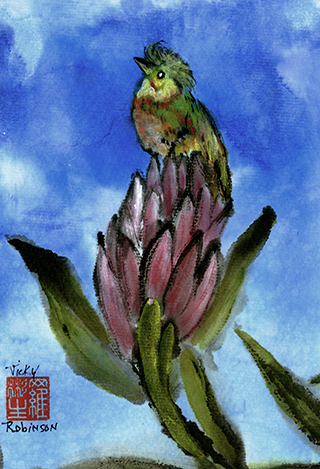 Original Watercolor by Artist Vicky Robinson