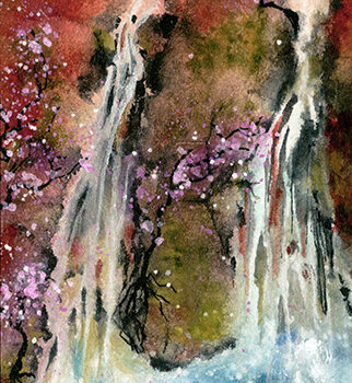Plum Blossom Falls by Artist Vicky Robinson
