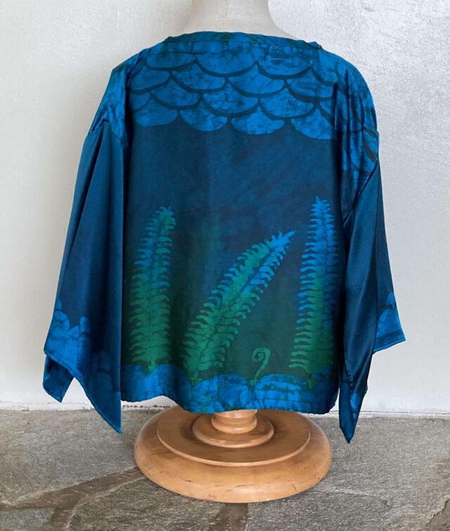 Fern and Hina Short Silk Jacket - BackView