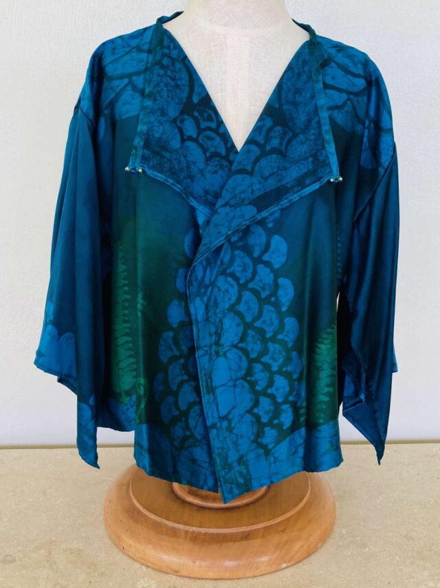 Fern and Hina Short Silk Jacket
