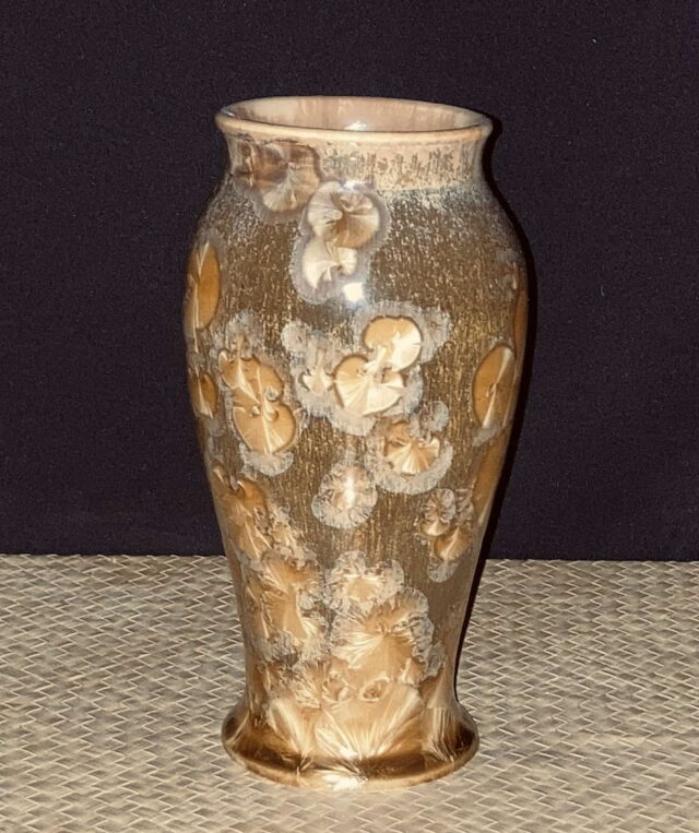 Crystalline Brown Vase by Artist Robert Troost