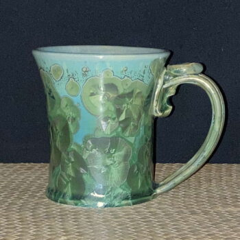 Crystalline Porcelain Celadon Mug by Artist Robert Troost