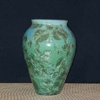 Crystalline Porcelain Celadon Vase by Artist Robert Troost