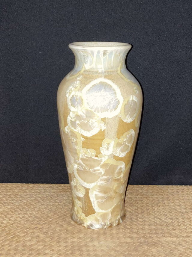 Crystalline Porcelain Cream Vase by Artist Robert Troost