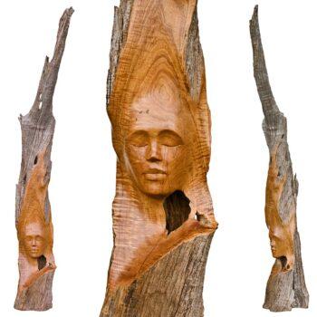 Po'omaika'iHandcarved Wood Sculpture by Dale Zarrella