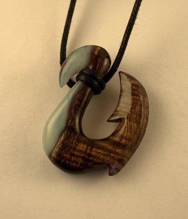 Original Hand Carved Fishhook by Artist David Haake
