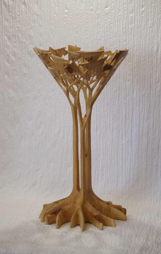 Turned Cook Pine Vessel by Artist Tom Calhoun