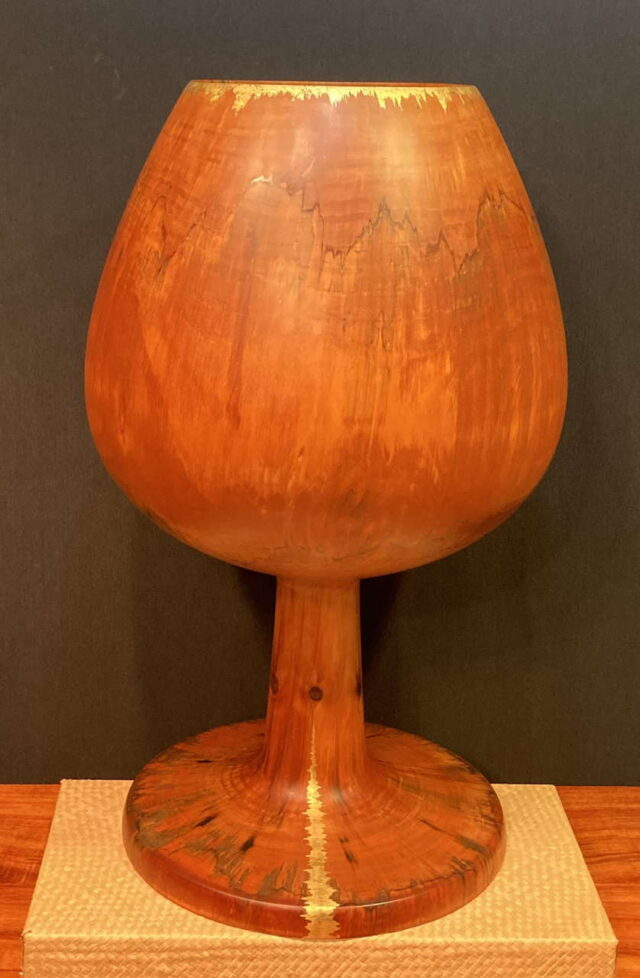 Turned Cook Pine Vessel by Artist Tom Calhoun