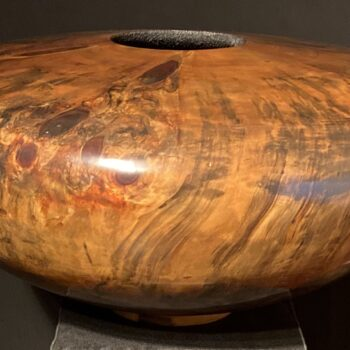 Turned Cook Pine Vessel by Artist Todd Campbell