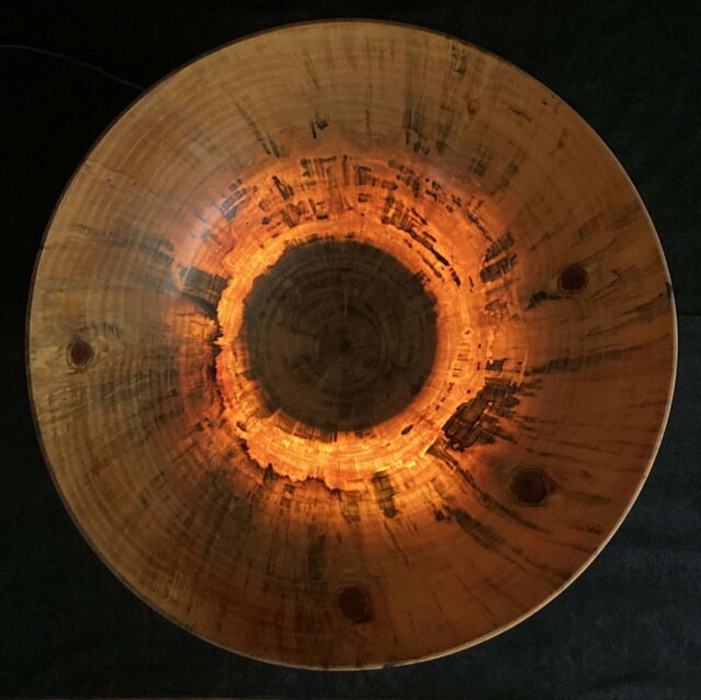 Translucent Norfolk Pine Bowl by Artist Kapahikaua Haskell