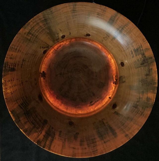 Translucent Norfolk Pine Bowl #6 - Illuminated Top View