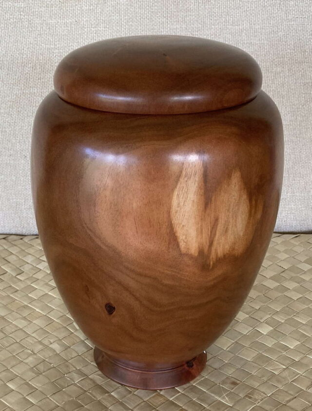 Turned Wooden Vessel by Artist Kapahikaua Haskell