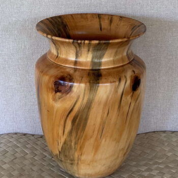 Turned Cook Pine Vessel by Artist Kapahikaua Haskell